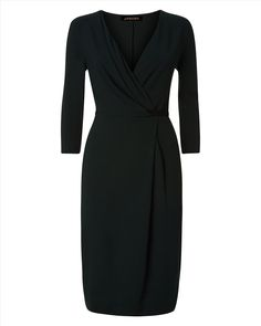 Womens pine green wrap dress from Jaeger - £125 at ClothingByColour.com