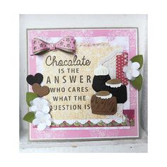 Marianne Design Collectables Cutting Dies & Clear Stamps - Chocolate is the Answer COL1366 < Craft Shop   Cuddly Buddly Crafts