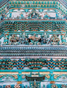 vmagazine:    150-foot high flying Rainbow Pagoda at Guangsheng Temple is the largest & best preserved colored-glazed-tile structure in China - photography by Stefen Chow - Smithsonian January - February 2017  Guangsheng Temple is a religious site located at the southern foot of Mt. Houston approximately 11 miles northeast of Hongtong County Shanxi Province. The temple was built in the Eastern Han Dynasty in 147 AD and was changed to its present name in the Tang Dynasty. Octagonal in shape…