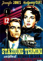 """Movie poster for Vittorio De Sica's """"Stazione Termini,"""" 1953."""