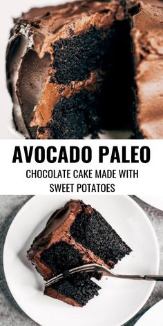 To try: Made with sweet potatoes instead of flour and avocado chocolate frosting. This flourless and dairy free chocolate cake is made in the food processor and perfect for any celebration! Are you ready for this easy gluten free chocolate cake recipe? Chocolate Paleo, Dairy Free Chocolate Cake, Chocolate Frosting, Cake Chocolate, Delicious Chocolate, Avacado Chocolate Cake, Chocolate Recipes, Chocolate Cream, Chocolate Cheesecake