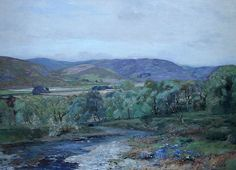 Tour Scotland photograph of a Perthshire landscape painting by Colin Gillespie Mitchell who was born in 1870 in Glasgow , Scotland . Colin ...