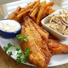 """""""FISH FRIDAY!! Southern Fried Catfish With Cajun Garlic Fries Chipotle Coleslaw & Aioli This Looks Delicious!! Big Shoutout to @chefa_smith For Cooking This One Of A Kind Dish!! #fishfriday #chefs #yummy #foodpics #foodforfoodies #foodgasm #instalike #cooks #cooking #foodie #foodporn #foodphotography #instafood #instsfoodie #foodstagram #foodblogger #tagsforlikes #tagafriend #homecooking #foodpics TAG A FRIEND BELOW"""" via @oneofakindchefs"""