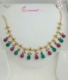 Gold Jewelry for any purpose Gold Earrings Designs, Gold Jewellery Design, Bead Jewellery, Necklace Designs, Beaded Jewelry, Jewelry Necklaces, Bracelets, Ruby Jewelry, India Jewelry