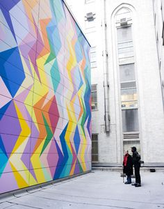 "Odili Donald Odita. Installation view of ""Time and Time,"" 2012. Permanent…"