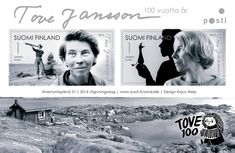 Finland Post Office will release a stamp to celebrate the anniversary of Tove Jansson the world-famous Finnish artist and author. Office Issues, Moomin Valley, Tove Jansson, Sell Stamps, Fuzzy Felt, First Day Covers, Museum Exhibition, Mail Art, Stop Motion