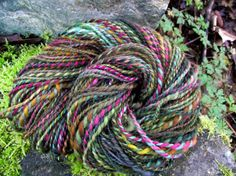 Handspun yarn handpainted yarn Falkland wool by Yarnarchy