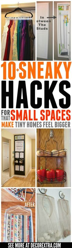 Small Space Ideas, SNEAKY Hacks For Small Space Living That Make Tiny Homes Feel Bigger, DIY Storage and Organization Ideas