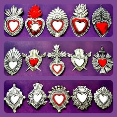 Wholesale Collection Small Tin Hearts - Mexico Import Arts