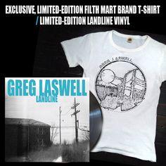 Greg Laswell Landline t shirt. art and tshirt from Filth Mart.