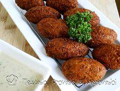 Falafel and tahini (in Spanish)