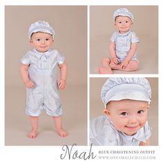 Blue Silk Easter Outfit for Baby Boys. | Noah from One Small Child