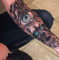Skull Rose Tattoos, Skull Sleeve Tattoos, Forearm Sleeve Tattoos, Lion Tattoo Sleeves, Tattoo Sleeve Designs, Body Art Tattoos, Hand Tattoos, Arm Tattoos For Guys Forearm, Cool Arm Tattoos