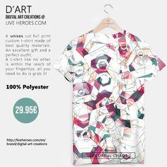 #chaos #colorful #geometry #abstract #polygons #hexagons #art #modern #mesh #forms #shapes #stylish #geometric #tshirt #unisex #liveheroes #liveheroesshop #digitalartcreations