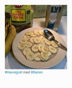 havregrøt med banan roer magen Breakfast, Food, Morning Coffee, Essen, Meals, Yemek, Eten