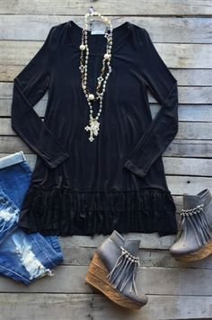 boutique clothing, Time Standing Still Tunic Top