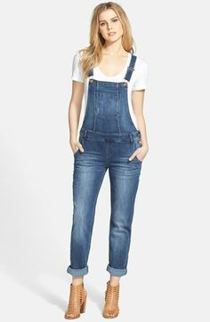 OMG...overalls MAKE A COMEBACK!!!!  ive waited for this day for so long.... kensie Deconstructed Denim Overalls (Kisses Rule) available at #Nordstrom
