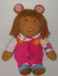 "SOLD!! Musical Dress Me DW Doll Arther Sister Playskool 1996 Plush 14"" Learning Toy #Playskool"