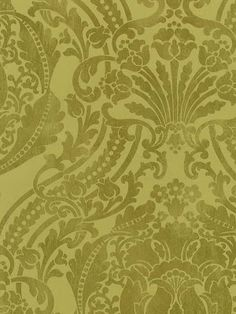 sage wallpaper with white pattern - Google Search Book Wallpaper, Green Wallpaper, Transitional Wallpaper