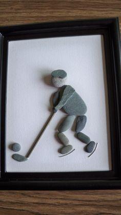 Hockey pebble art | hockey | Pinterest