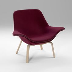Michael Sodeau; 'Oyster' Swivel Chair on Bent Wood Base for Offecct, 2015.