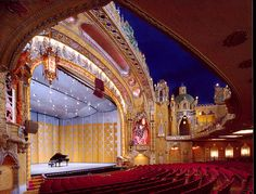 Have ceremony here? Coronado theater. Goes with the theme. Could do AMAZING photos in the balcony boxes.   Photo Gallery | Friends of the Coronado