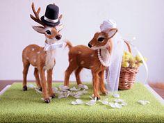 バンビ Bambi, Deer Wedding, Ring Pillow Wedding, Table Arrangements, Table Flowers, Wedding Images, Wedding Ideas, Wedding Welcome, Doll Accessories