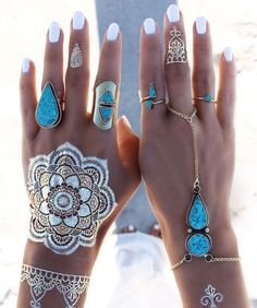 Gold And Silver Summer Flash Tatoos,,,I Love it All,Just Beautiful !