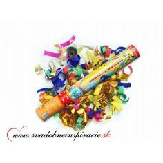 Vystreľovacie confetti - Farebné (40 cm)