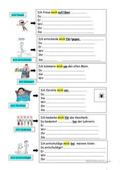 German Grammar, German Language, Reflexive Verben, Foreign Language Teaching, Learn German, Education, Learning, Quotes, Clever