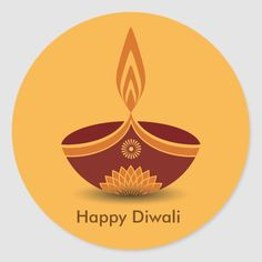 Shop Decorative Diwali Lamp Design Classic Round Sticker created by Personalize it with photos & text or purchase as is! Paper Angels Diy, Diwali Lamps, Diy Diwali Decorations, Diwali Greetings, Happy Diwali, Festival Lights, Diy Christmas Ornaments, Decorating Blogs, Round Stickers