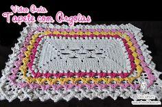 Tapete com Argolas de #crochê - Artes da Desi