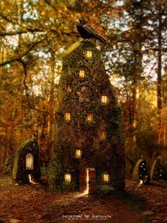 Fairy tower (digital manipulation) by NiAnluain