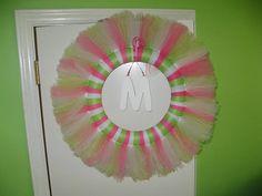 Custom Tutu Wreath by MaddiePiesBoutique on Etsy, $35.00