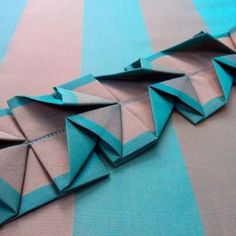 How to Make a Striped Origami Belt