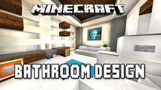 minecraft tutorial how to make a modern bathroom design modern hous - Bathroom Ideas Minecraft