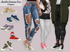 b7484b02b5f4 Semller Converse Low - The Sims 4 Download - SimsDomination The Sims 4  Roupas