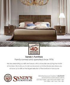 @sandysfurniturebc #anniversary #sale #furniture #celebration #40years