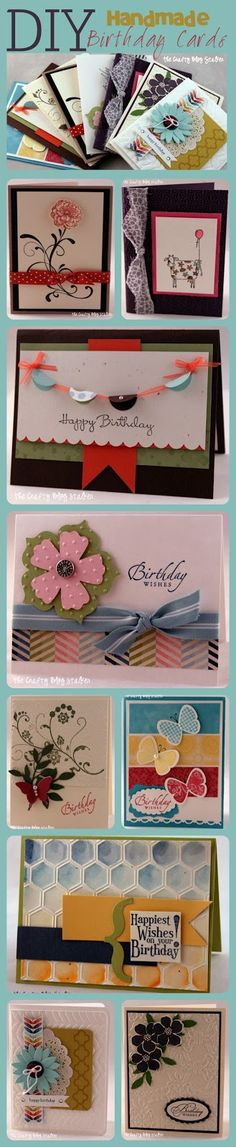 DIY Handmade Birthday Card Ideas