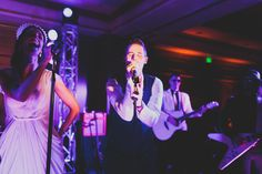 BRIDE & GROOM SINGING ON THEIR OWN PARTY :) http://www.stylemepretty.com/2014/08/06/english-garden-inspired-wedding-in-southern-california/