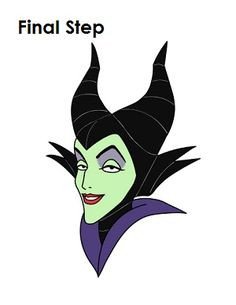 "How to Draw Maleficent Final Step"" title="