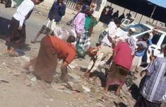 اخبار اليمن اليوم الأحد 1/4/2018 حملة نظافة واسعة في شوارع مدينة الصرة بابين
