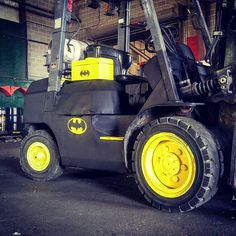 The bat-lift ... Of course it's a Toyota #forklift