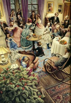 "Charles Dickens ""Christmas Carol"" – Illustrated by Roberto Innocenti: chetvergvecher — ЖЖ Christmas Scenes, Christmas Past, Merry Little Christmas, A Christmas Story, Christmas Pictures, Winter Christmas, Xmas, Illustration Noel, Christmas Illustration"