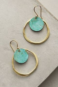 IDK what it is about a pair of #circle #earrings, but i love them