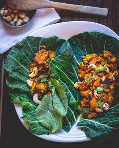 Collard Wraps with Tempeh Sweet Potato Hash