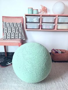 Birth Ball Cover, Crochet Pilates Yoga Ball Cover, Office Chair, Exercise Ball Knit Slipcover, Eco friendly Gift for Pregnants Ball Chair, Pregnancy Gifts, Crochet Home, Seat Covers, Pattern Blocks, Colorful Pictures, Slipcovers, Nursery Decor, Just For You