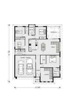 Fernbank Home Designs in Batemans Bay 4 Bedroom House Plans, New House Plans, Dream House Plans, Small House Plans, House Floor Plans, Home Decor Bedroom, Home Design Floor Plans, Plan Design, Design Ideas