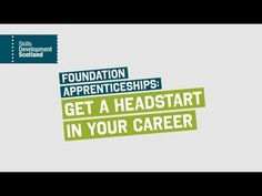 A Foundation Apprenticeship is a new apprenticeship for and pupils who want to get a head start in their career. Starting on or the Foundation A. Head Start, Foundation, Youtube, Foundation Series, Youtubers, Youtube Movies