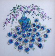Brazilian-Dimensional-Stitchery-Embroidery-Pattern-Majestic-Peacock